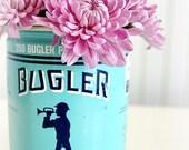 Vintage Turquoise Bugler Tobacco Tin