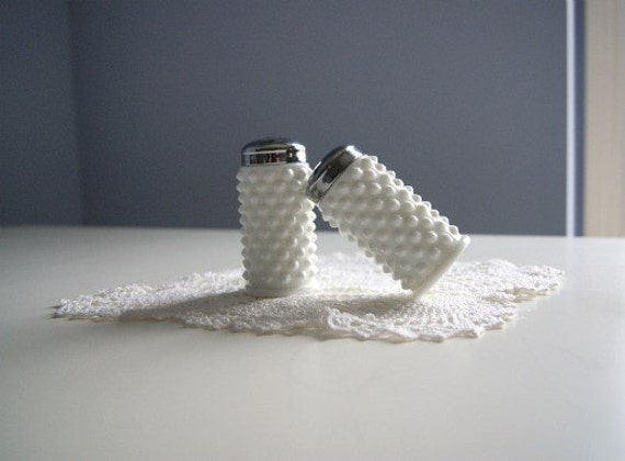 Vintage Fenton Hobnail Salt and Pepper Shakers