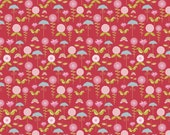 Riley Blake Designs - Love Birds - Flowers in Cranberry 1 Yard
