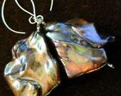 Gabriela Freshwater Pearl Earrings in 14k gold Elfin Earwires