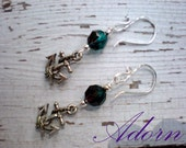 Crystal and Anchor Earrings
