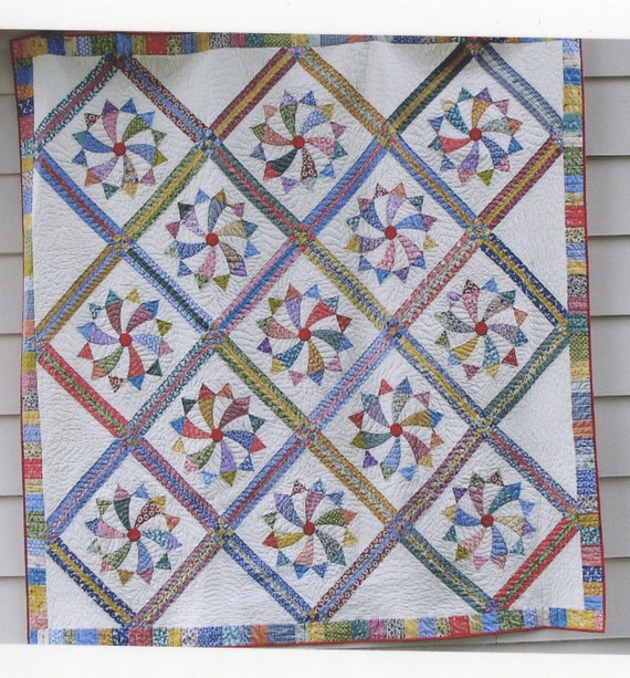 Rolling Star Quilt - Iowa State Fair Ribbon Quilt - Queen Size Machine Quilted