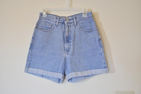 VINTAGE DENIM SHORTS - Urban Style Denim Guess Jeans High Waisted Vintage Shorts -  Size 30