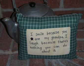 Grandpa Smile Pillow