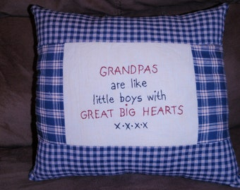 Big heart Grandpas pillow