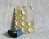 CANARI boutons  . 10 vintage buttons with original packaging