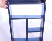 Blue Curio Shelf With Pegs for Your Wall, Country Style Vintage