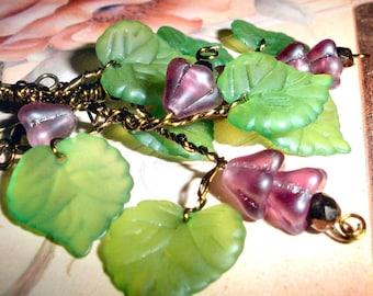 Grape Vine earrings - bronze wire wrapped
