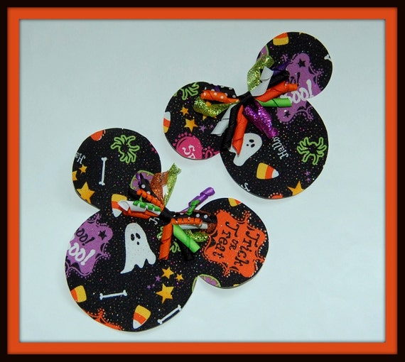 DIY  Do-it-Yourself Minnie Mouse Halloween Applique and Korker Kit
