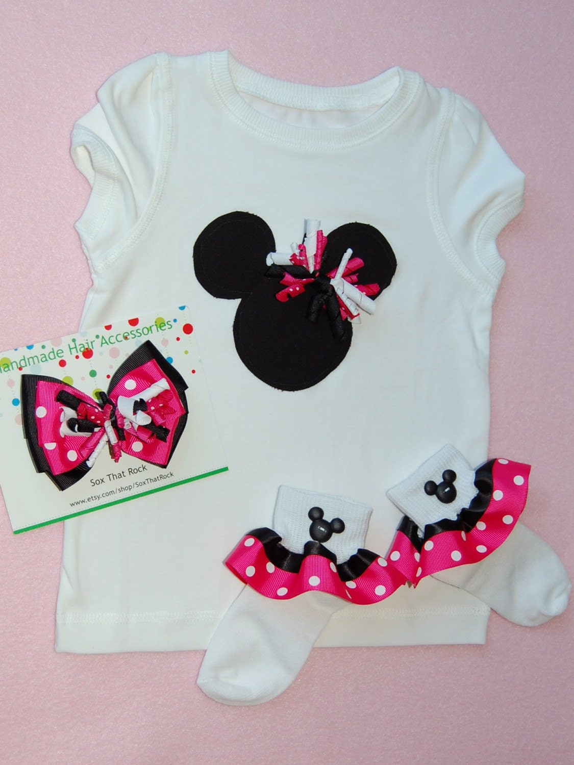 Sale awesome applique minnie mouse shirt and matching ruffle for Applique shirts for sale