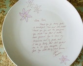 Personalized Gifts (2), Your Words, Wedding, Thank-you, Parents Gift, Love Letter, Two - Cake Plates with glazed flowers,Serving