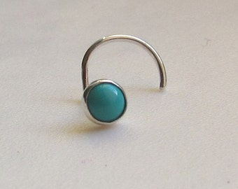 Turquoise Nose Stud and Sterling Silver SPECIAL SALE