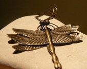 Bronze Dragonfly Earrings
