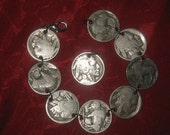 Authentic Vintage  Buffalo Nickel  Bracelet  Pendant  Set  Special Wholesale price