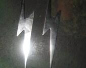 New Large Stainless  Steel  Lightning  Bolt  Earrings