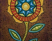 small mandala flower painting
