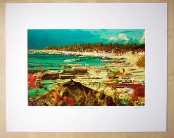 Low Tide, High Spirits-Nusa Lembongen, Bali matted print