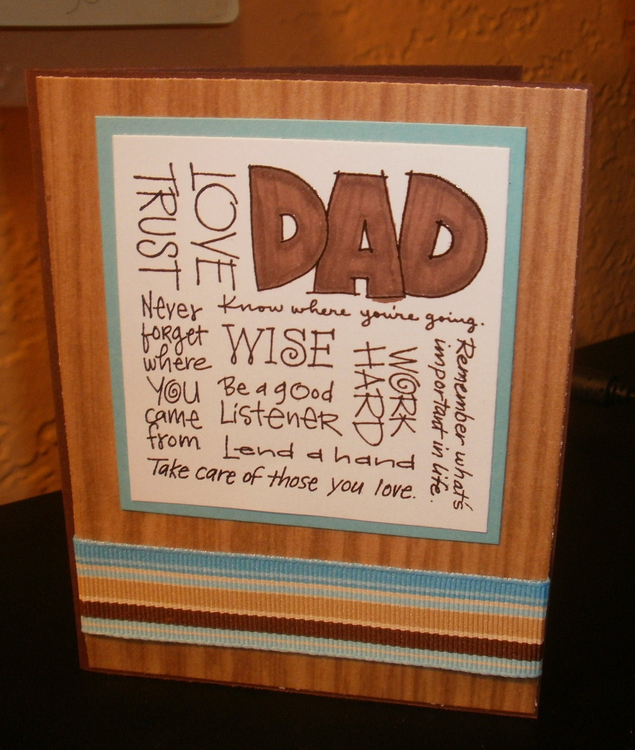 dad inspiration father's day handmade greeting card