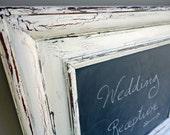 ivory framed damask chalkboard