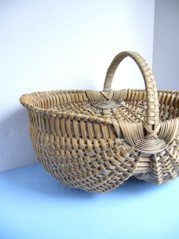 Old Handmade Baskets : Vintage handmade basket