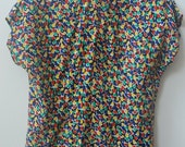80s vintage flower petal colorful shirt