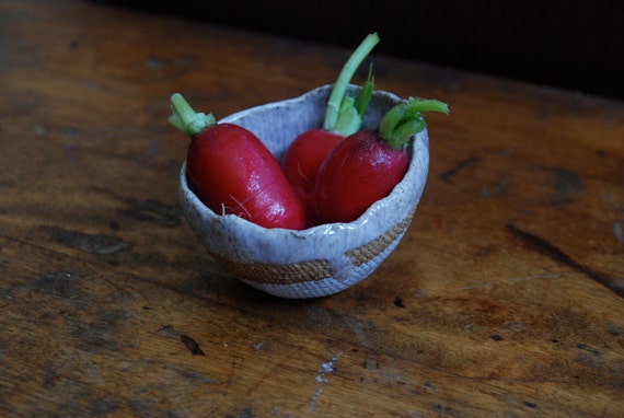 Handmade ceramic bowl - Pink tulip