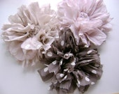 Flower brooch or pin,  shabby chic style