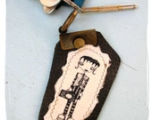 cool goth leather Key's Chain