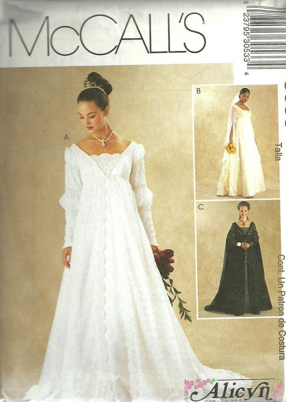 Renaissance bridal gown sewing pattern mccalls by for Mccall wedding dress patterns