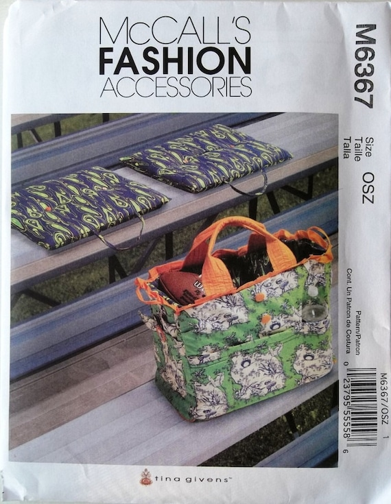 Tote & Cushions McCall's 6367 uncut sewing pattern