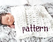 Plush Mini Blanket CROCHETING PATTERN, Baby Photo Prop, Chunky Basket Liner, Instant Download