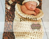Baby Cocoon CROCHETING PATTERN, One Hour Chunky Cocoon Sack, Newborn Photography Prop, Instant Download