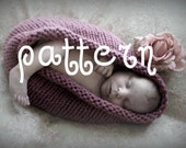 Baby Bowl KNITTING PATTERN, Chunky Newborn Photography prop, Instant Download