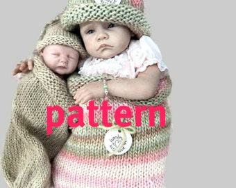 KNITTING PATTERN Reborn Doll Cocoon and Hat, Sell What You Make, Instant Download