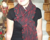 Rustic Softness Hand Crocheted Scarf
