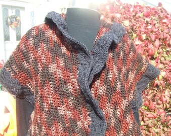 Toasty Warmth Hand Crocheted Shawl