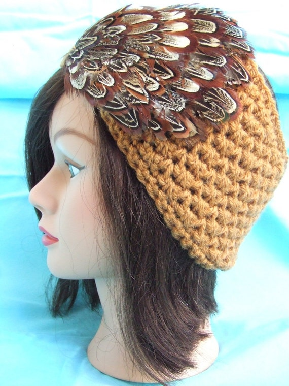 Feathered In Warmth Winter Headband