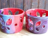 Bright and Colorful Set of Candle Holders