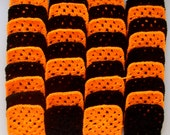 Make Your Own Afghan With 36 Handmade Yarn Oklahoma Cowboys Halloween Granny Squares Lot M-25