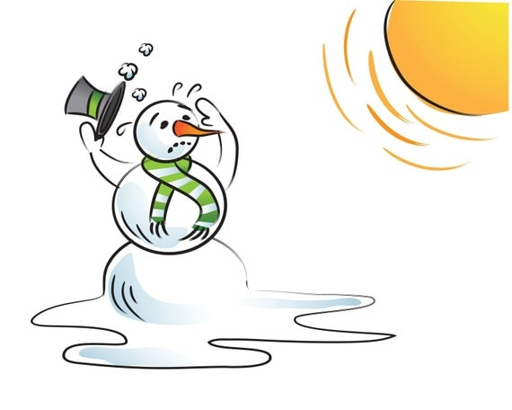 Melting snowman clipart