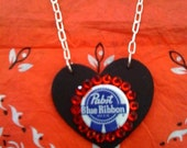PABST BLUE RIBBON PBR BEER NECKLACE ROCKABILLY GIRLS
