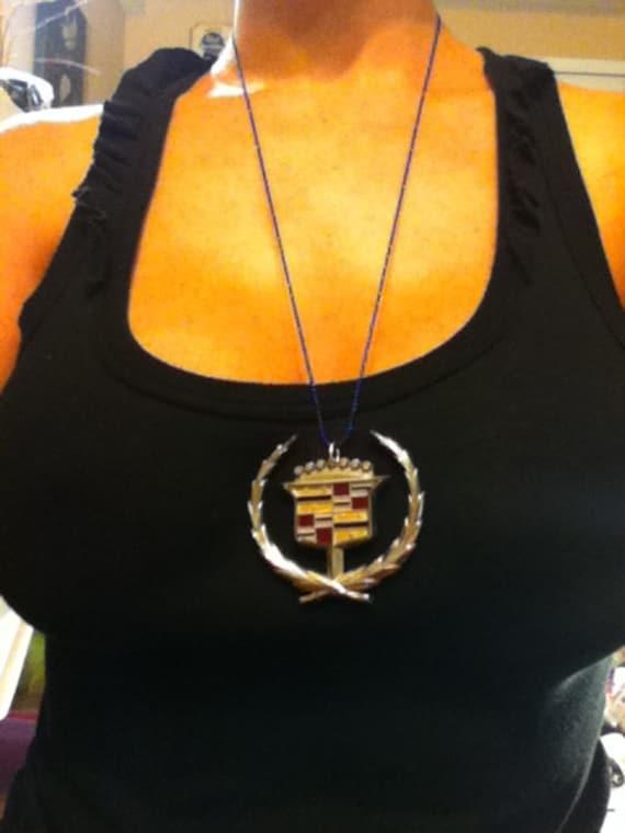 Cadillac Hood Ornament Emblem Vintage Necklace