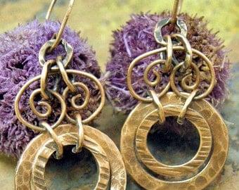 Copper Dress, Antiqued Copper earrings, ThePurpleLilyDesigns