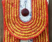 Midi Bag-Bag in red/yellow/white/grey