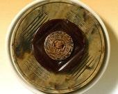Vintage Button Brooch, Dragon motif