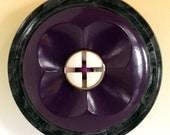 Vintage Button Brooch - Plum