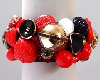 Stargazer Glass Button Bracelet