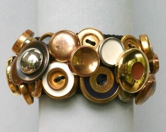 Brassy Button Bracelet