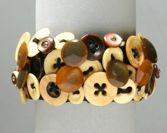Civil War Button Bracelet