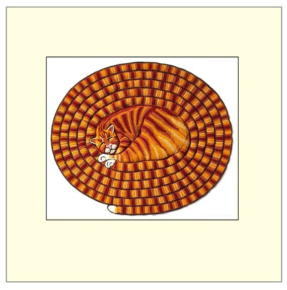 Tabby Cat Print - A Stitch in Time